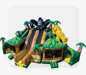 Jungle Paradise Inflatable Slide